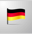 germany waving shiny flag design vector image