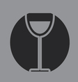 glass of wine icon symbol vector image vector image