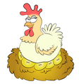 golden eggs vector image