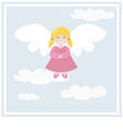 happy angel vector image