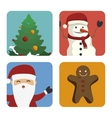 happy merry christmas icon vector image
