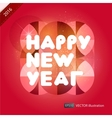 Happy New Year composition vector image vector image