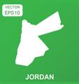 jordan map icon business concept jordan pictogram vector image vector image
