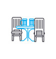 kitchen furniture linear icon concept kitchen vector image vector image