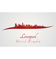 Liverpool skyline in red vector image vector image