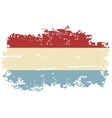 Luxembourg grunge flag vector image vector image