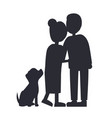 married people and their puppy family poster vector image vector image