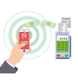 Mobile payments and near field communication vector image vector image