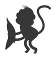 monkey cartoon icon silhouette vector image vector image