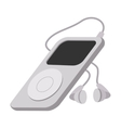 Mp3 player cartoon icon vector image vector image