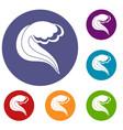 ocean or sea wave icons set vector image vector image