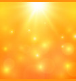 orange light background sunny background vector image vector image