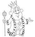 outlined king vector image