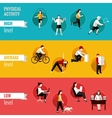 Physical activity horizontal banners vector image vector image