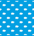 piggy pattern seamless blue vector image vector image