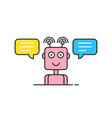 pink contour support chatbot logo vector image vector image