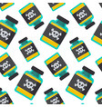 poison bottle seamless pattern vector image vector image