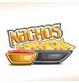 poster for mexican nachos vector image