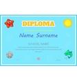 Preschool Kids Diploma certificate design template vector image