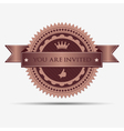 Retro invitation badge and label vector image vector image