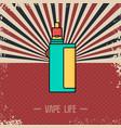 retro vaporizer electric cigarette vapor mod vector image