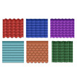 Roof tiles roofing materials set vector image