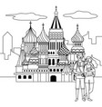 saint basil s cathedral design vector image