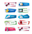 set banners on the theme of travel vector image vector image