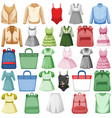set fashion outfits vector image vector image