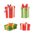 set of packages with surprises inside gifts icons vector image