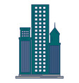 skyscraper buildings isolated icon vector image vector image