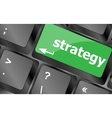 Strategy button on keyboard key button Keyboard vector image vector image