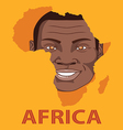 The Face smile of Africa vector image