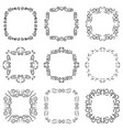 vintage frame decoration set vector image vector image