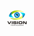 vision logo design template vector image