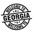 welcome to georgia black stamp vector image vector image