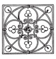 wrought-iron square panel is a modern design vector image vector image