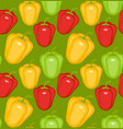bulgarian pepper seamless pattern paprika yellow vector image