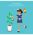 House Cleaning Template Web Page vector image