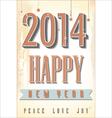 Happy New Year retro background vector image