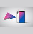 smartphone banner mockup generic smartphone vector image