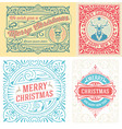 4 christmas greeting card vector image vector image