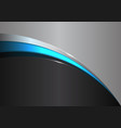 abstract blue line curve on black gray design vector image