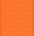 abstract geometric shapes pattern orange vector image vector image