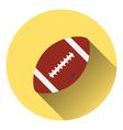 American football ball icon vector image vector image