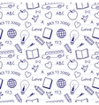 Back to School Doodles Pattern vector image