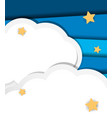 background design with clouds and stars vector image vector image