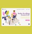 bafeeding isometric landing page vector image