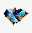 bright colorful triangular poly 3d composition vector image