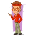 Cartoon handsome disco man in red shirt vector image vector image